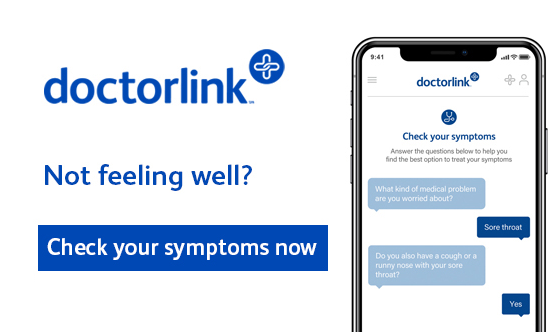 DoctorLink.  Not feeling well? Check your symptoms