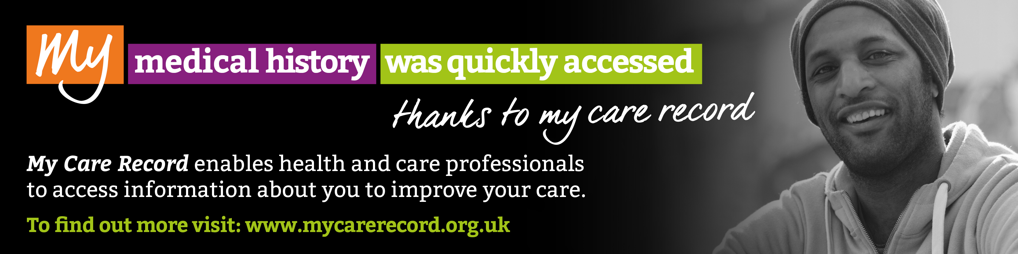 My medical history was quickly accessed thanks to my care record